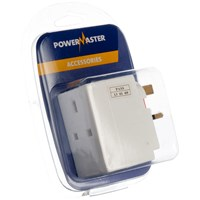 Powermaster  3 Way Plug Adaptor - 13 Amp