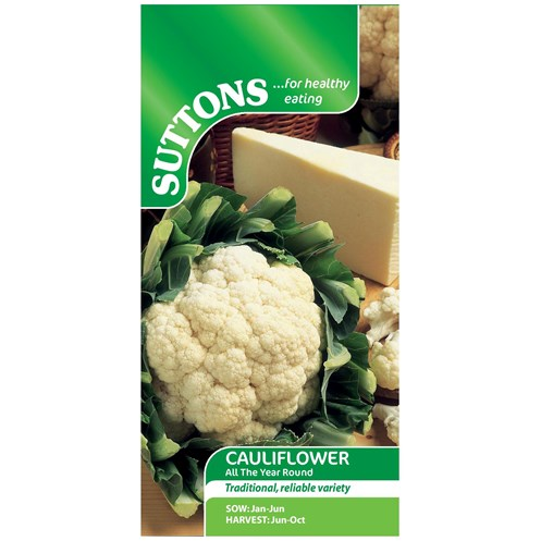 Suttons  Cauliflower All Year Round Vegetable Seeds