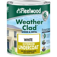 Fleetwood Weather Clad Exterior Primer Undercoat White Paint - 2.5 Litre