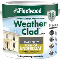 Fleetwood Weather Clad Exterior Primer Undercoat Dark Grey Paint - 2.5 Litre