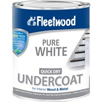 Fleetwood Quick Dry Primer Undercoat Pure White Paint - 2.5 Litre