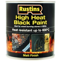 Rustins  High Heat Black Paint - 250ml