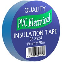 Quality PVC Blue Insulating Tape Blue - 19mm x 20m