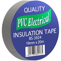 Quality PVC Insulating Tape Grey - 19mm x 20m