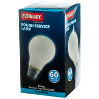 Eveready  Rough Service GLS Light Bulb - 60W BC