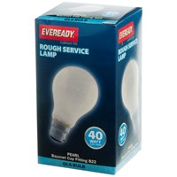 Eveready  Rough Service GLS Light Bulb - 40W BC