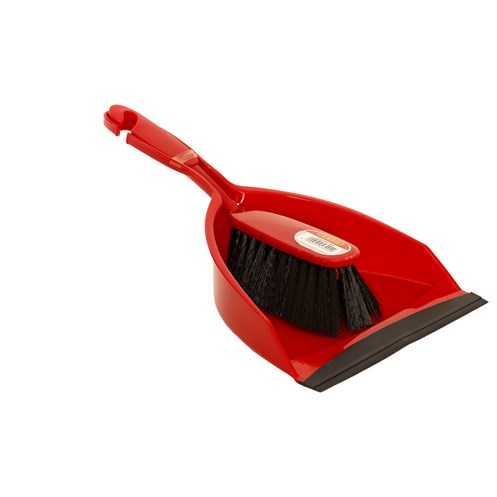 Dosco  Dustpan & Brush Set - Red