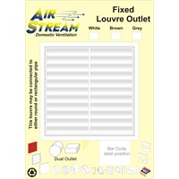 Airstream  Fixed Louver Outlet - White