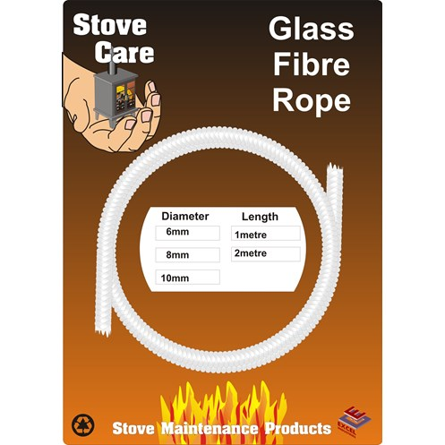 Stove Care  Glass Fibre Rope - 10mm x 2m